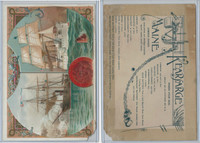 A22 Allen & Ginter, Our Navy, 1890, Ships, Kearsarge & Maine