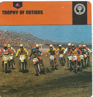 1978 Edito-Service, Automobile Rally Card, #31.24 Trophy of Nations, Motorcylce