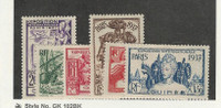 French Guiana, Postage Stamp, #120-125 Mint LH, 1937