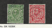 Great Britain, Postage Stamp, #158A-158B Used, 1912-1921