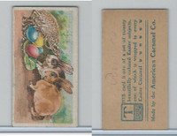 E45 American Caramel, Easter Subjects, 1920's, 2 Rabbits 4 Eggs