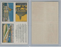 E279 Sparrow's Chocolate, Boston Scenes, 1910, Stamp Sheet of Four