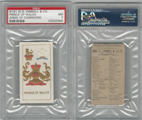 N181 Kimball, Arms of Dominions, 1888, England Pr. Of Wales, PSA 7 NM