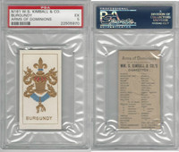 N181 Kimball, Arms of Dominions, 1888, France Burgundy, PSA 5 EX