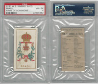 N181 Kimball, Arms of Dominions, 1888, Brazil, PSA 4 VGEX