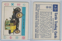 1958 Leaf, Cardo Trading Cards, #A-21 First Yellow Cab-1908