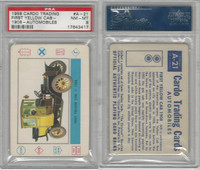 1958 Leaf, Cardo Trading Cards, #A-21 First Yellow Cab-1908, PSA 8 NMMT