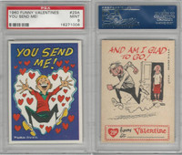 1960 Topps, Funny Valentines, #29A You Send Me!, PSA 9 Mint