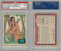 1959 Fleer, Indian Trading, #31 Young Brave Coming Back, PSA 9 Mint