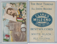 H605 Clark's Thread, Rulers and View, 1890's, Italy, King Humbert