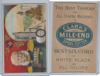 H605 Clark's Thread, Rulers and View, 1890's, Germany, Emp. William 1st