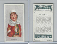 C6 Imperial Tobacco, Children Of All Nations, 1924, #17 Greece