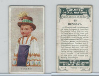 C6 Imperial Tobacco, Children Of All Nations, 1924, #19 Hungary