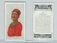 C6 Imperial Tobacco, Children Of All Nations, 1924, #20 India