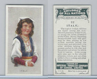 C6 Imperial Tobacco, Children Of All Nations, 1924, #22 Italy