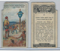 C5 Imperial Tobacco, Canadian History, 1926, #47 Jacques Cartier