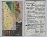 K6 Arbuckle Coffee, Illustrated Atlas of the U.S., 1890, #61 Kentucky, Horse