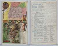 K6 Arbuckle Coffee, Illustrated Atlas of the U.S., 1890, #100 Arizona, Indians