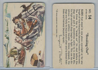 F279-4 Quaker Oats, Sergeant Preston Cards, 1956, #14 Breaking Out, Dogs