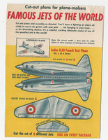 F273-8 Kellogg, Famous Jets Of The World, 1950's, #6 Leduc French