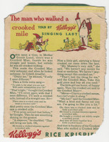 F273-37b Kellogg, Mother Goose Stories, 1933, Crooked Mile