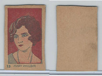 W512 Strip card, Famous People, 1926, #13 Mary Philbin