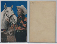 W Card, Cowboys Stars, Color Tint, 1950's, Roy Rogers