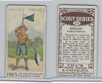 V39  J.S. Fry, Scout Series, 1912, #24 Signaling Semaphore