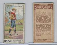 V40  J.S. Fry, Scout Series, 2nd Series, 1912, #4 Staff Drill