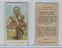 V101 Willard's Chocolates, Indian Series, 1925, #2 Big Spring, Blackfeet Chief