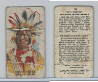 V118 Ganong Bros., Big Chiefs, Indians, 1939, #35 Many Horns, Sioux