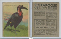 V255 Canada Chewing Gum, Papoose Animal Gum, 1935, #37 Horned G. Raven