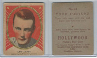 V289 Hamilton, Hollywood Picture Stars, 1938, #23 Lew Ayres