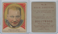 V289 Hamilton, Hollywood Picture Stars, 1938, #29 Wallace Beery