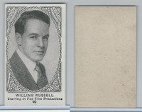 W585, Movie Stars, Blank Backed, 1921, #40 William Russell