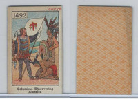 W Card, Mayfair Novelty, American History, 1919, 1492 Columbus Discovering