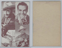 W413 Exhibit, Cowboy 4 in 1, 1950's, (28) Gene Autry, Monte Hale