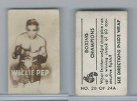 1949 Topps, Magic Photos, Boxing Champions, A #20 Willie Pep