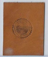 L23 American Tobacco Leather, State Seals, 1912, Arizona (Tan)