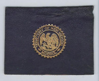 L23 American Tobacco Leather, State Seals, 1912, New Mexico (Purple)