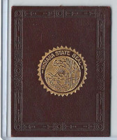 L23 American Tobacco Leather, State Seals, 1912, Indiana (Purple)
