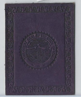 L23 American Tobacco Leather, State Seals, 1912, Iowa (Purple)