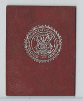 L23 American Tobacco Leather, State Seals, 1912, Michigan (Red)