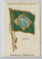 S33 American Tobacco Silk, National Flags, 1910, Brazil