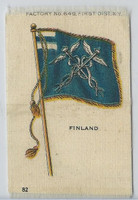 S33 American Tobacco Silk, National Flags, 1910, Finland