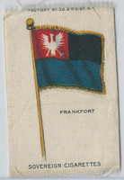 S33 American Tobacco Silk, National Flags, 1910, Frankfort