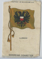 S33 American Tobacco Silk, National Flags, 1910, Lubeck