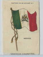 S33 American Tobacco Silk, National Flags, 1910, Mexico