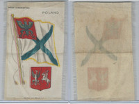 S35 American Tobacco Silk, Flags & Arms, 1910, Poland (3 X 5 in)