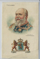 S78 American Tobacco Silk, Ruler & National Arms, 1910, Holland